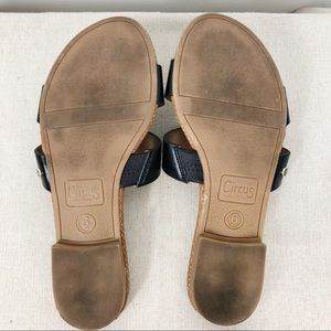 Circus by Sam Edelman Shoes - Circus by Sam Edelman Black Flats Slip On Sandals